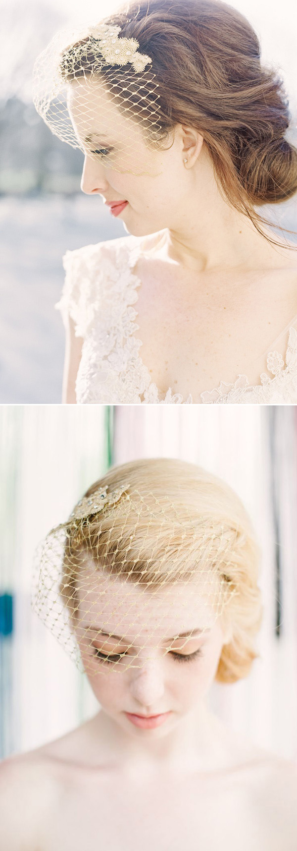 gold vintage birdcage veils for 2016 brides
