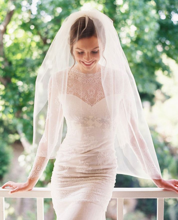 gorgeous lace drop wedding veils
