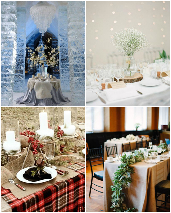 gorgeous shoot of winter wedding tablescapes