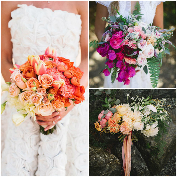 Great Mix Of Stunning Ombre Wedding Bouquets
