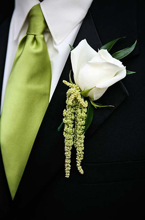 herb groomsman boutonniere