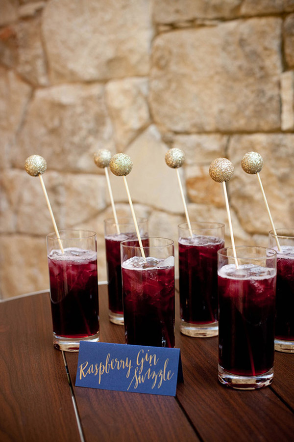 icy purple color wedding drinks