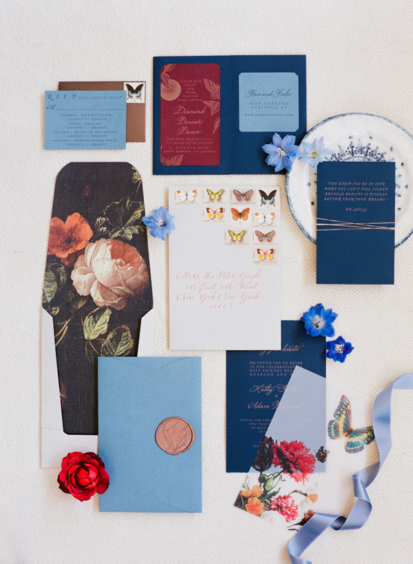 jewel tones wedding statinery for 2016 trends