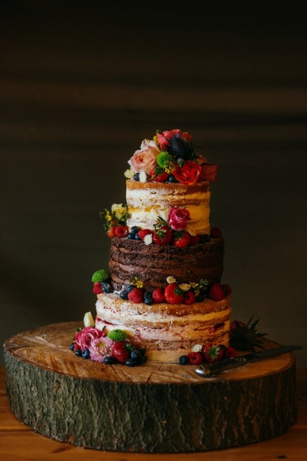 multi-flavor naked cake all your guests will love