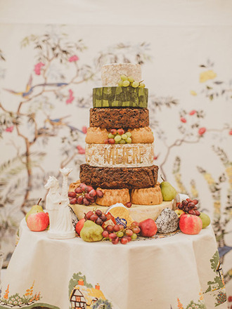 Nontraditional Rustic Eight Tiered Cheese Wedding Cake Comprised Of Assorted Flavors