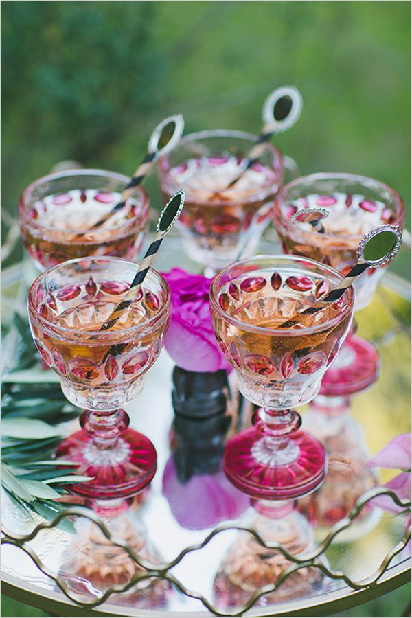 pink wedding cocktails for weddings