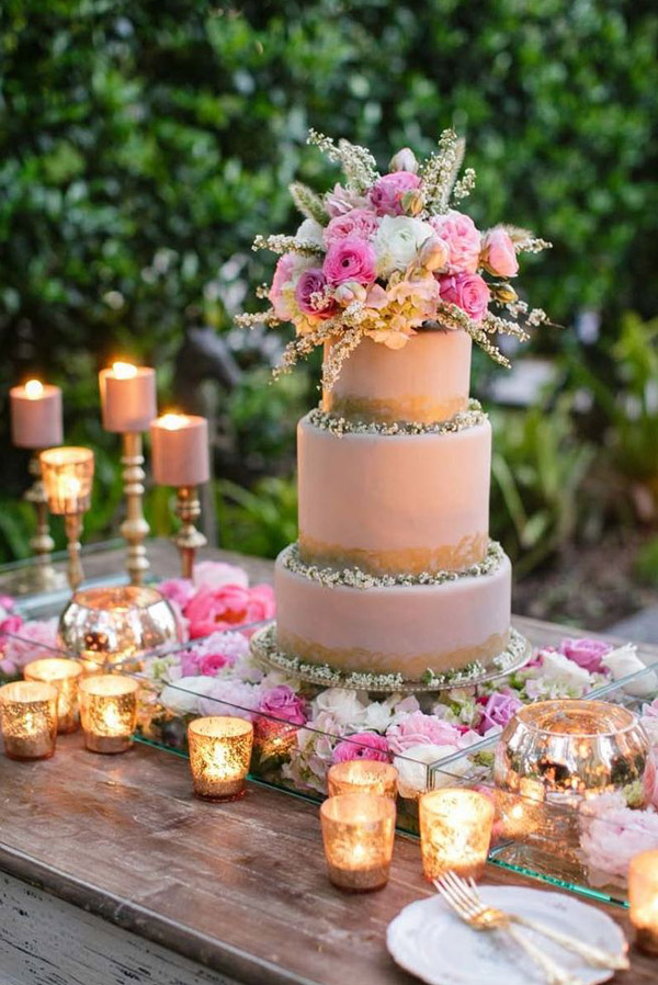 28 inspirational pink wedding cake ideas elegantweddinginvites pretty rustic wedding cake ideas junglespirit Gallery