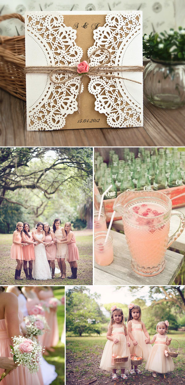Elegant burlap wedding