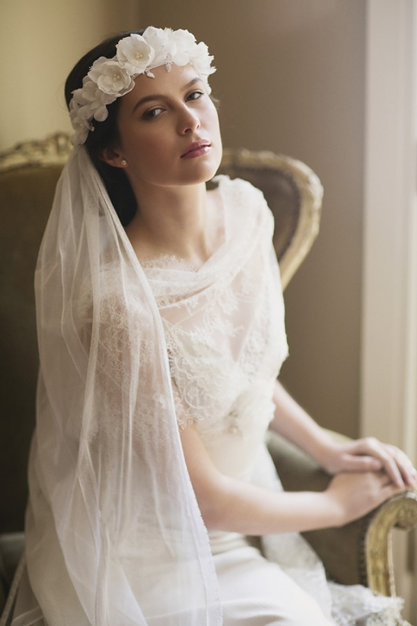 silk flower wedding veil-wedding accessories