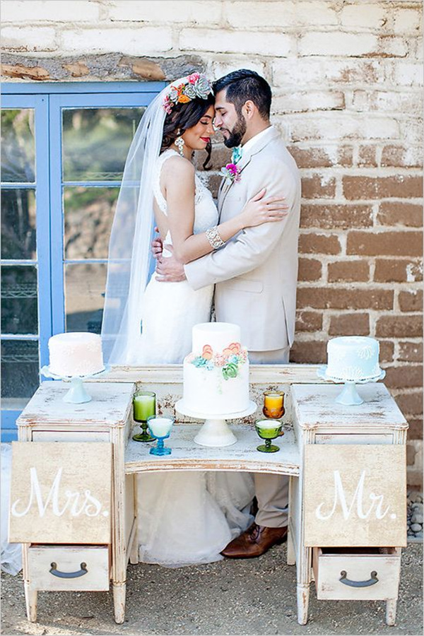 unique wedding ideas that vintage dresser wedding cake table