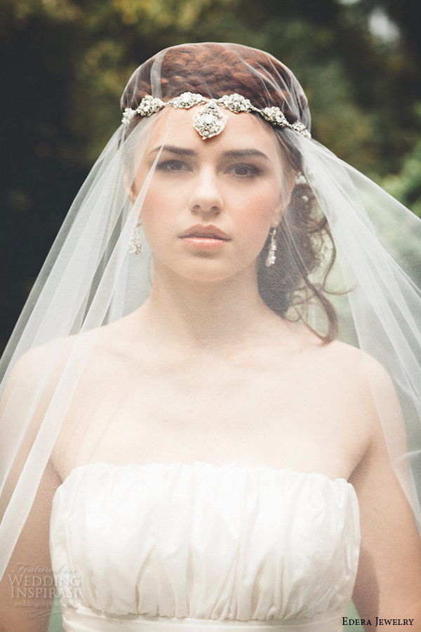 wedding bridal accessories-lace head piece with wedding veil