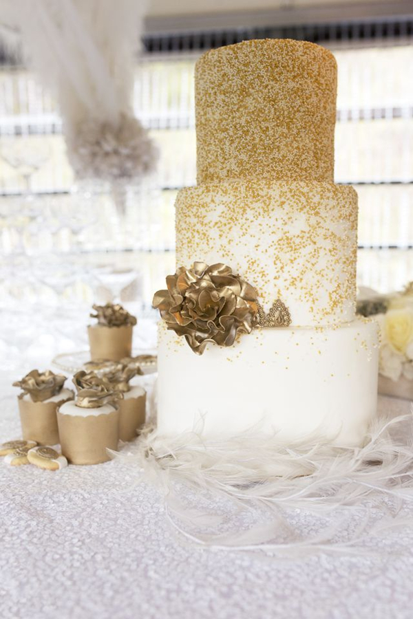 gold glitter wedding cakes 24 fab glittery and sparkling wedding cake ideas for 2016 14782