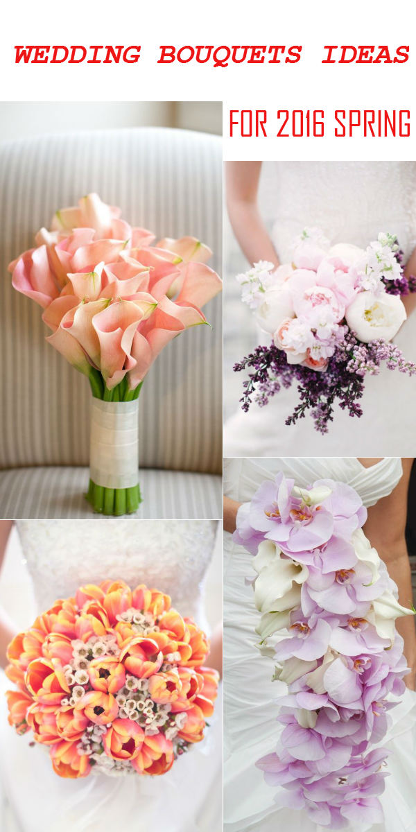 2016 Spring Wedding Bouquets Ideas Of Calla Lili Peony Tulip And Orchid