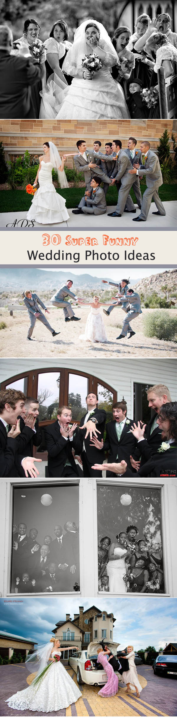 To Make Your Wedding Unforgettable: 30 Super Fun Wedding Photo Ideas