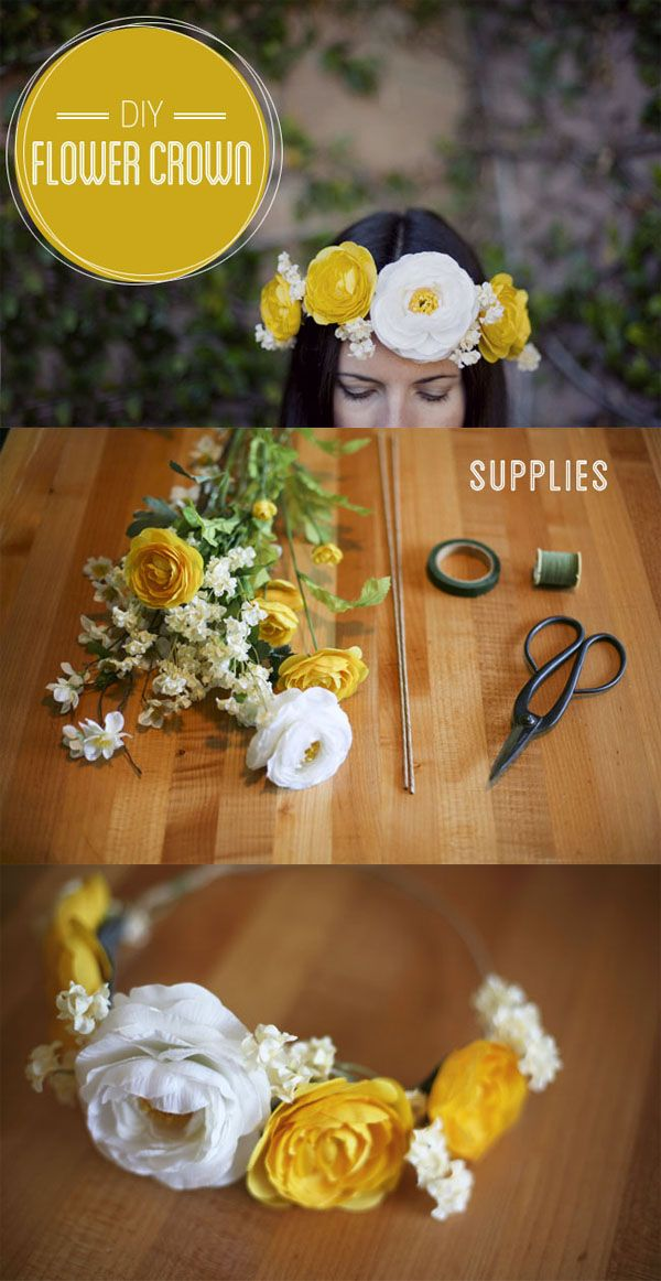 DIY flower crwon spring wedding ideas