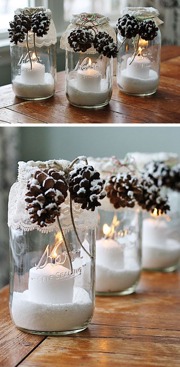 diy pine cone candles mason jae winter wedding gifts ideas - Wedding Gift Ideas