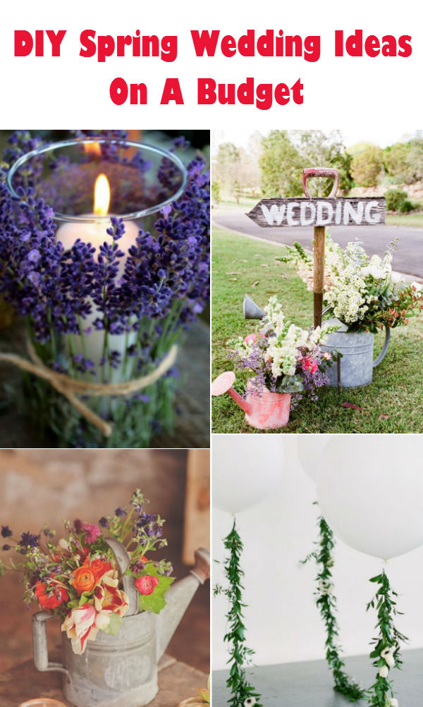 DIY spring wedding ideas on a budget