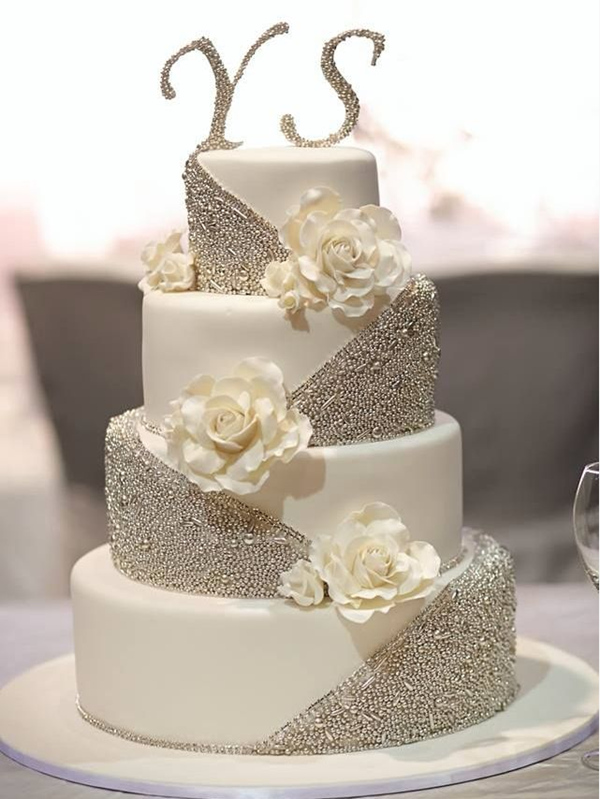 25 fabulous wedding cake ideas with pearls elegantweddinginvites elaborate wedding cakes with exquisite sugar flower details junglespirit Gallery