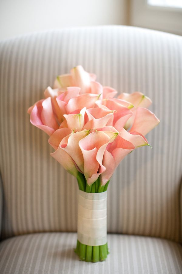 Pink Calla Lily Wedding Bouquet For Spring