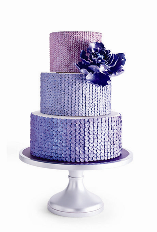 24 Fab Glittery And Sparkling Wedding Cake Ideas For 2016 ...