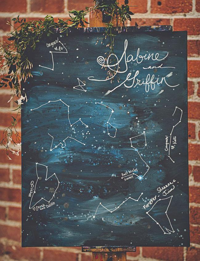 an astronomy-centric canvas guestbook