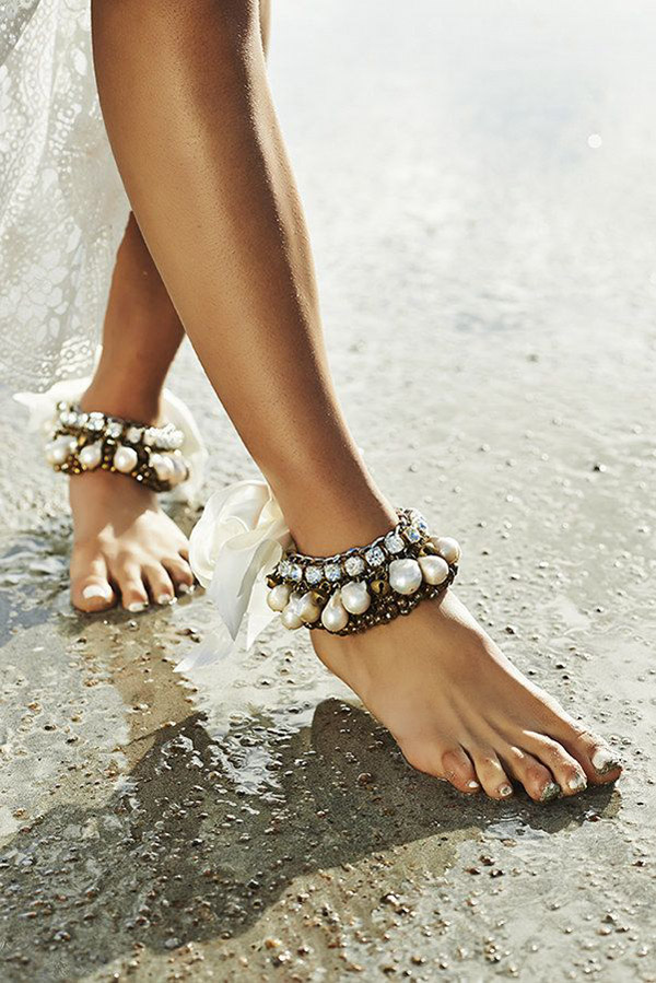 bridal anklets for bohemian beach brides