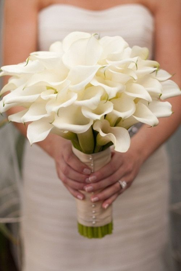 Calla Lilies Wedding Bouquet For Spring Beach