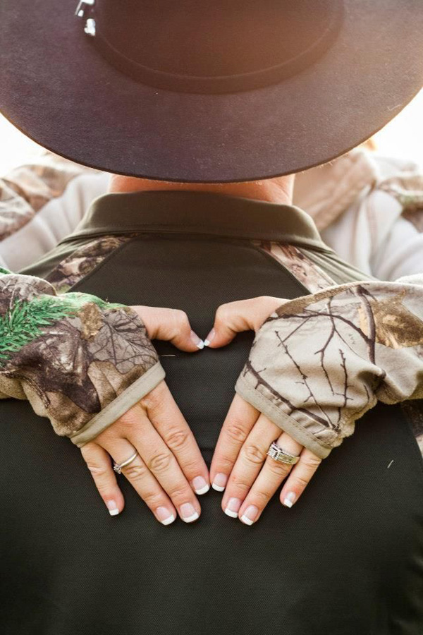 camo wedding engagement rings
