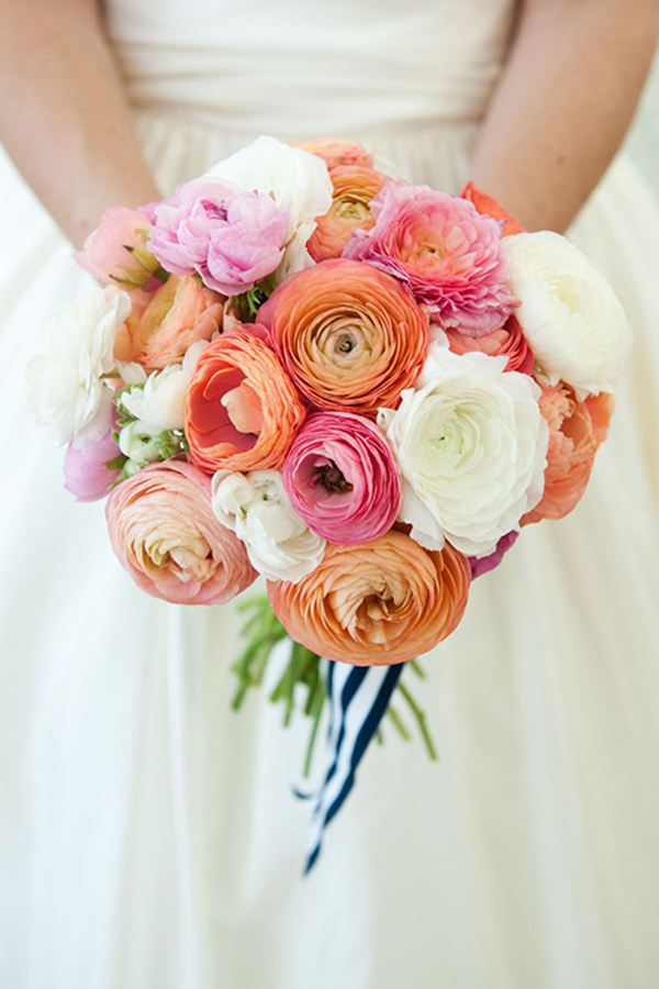 colorful ranunculus bridal bouquet ideas for 2016 spring