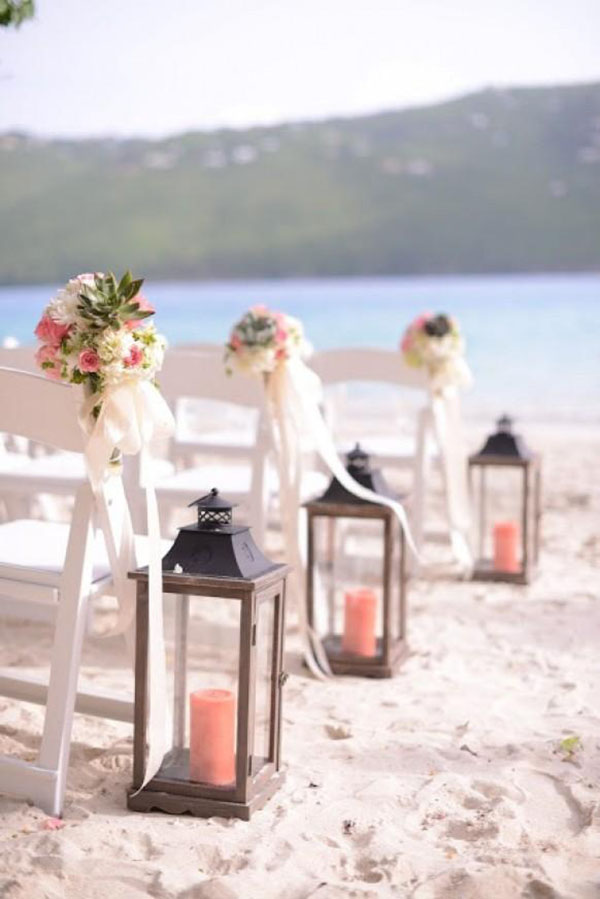 35 gorgeous beach themed wedding ideas elegantweddinginvites coral beach wedding aisle decoration ideas junglespirit Image collections