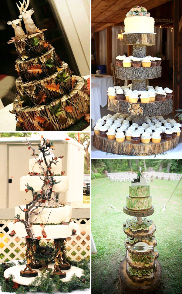 Creative Camo Wedding Cake Ideas