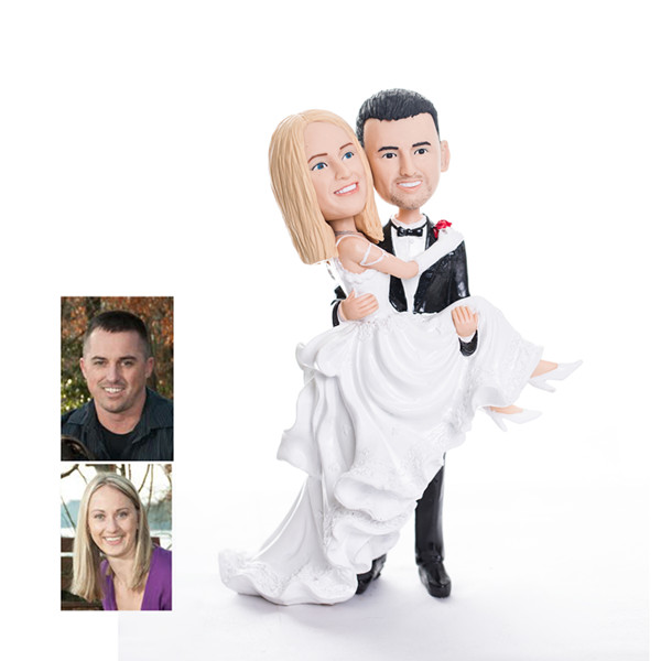 personalized bobblehead wedding cake toppers 42 cool camo wedding ideas for country style enthusiasts 6475