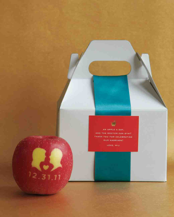 cute apple inspiration winter wedding gift ideas