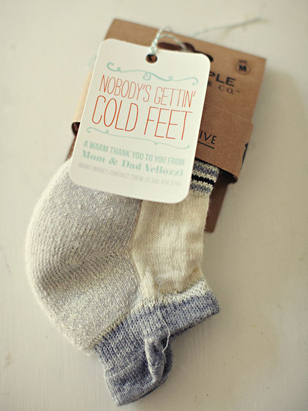 cute winter wedding favors ideas of socks