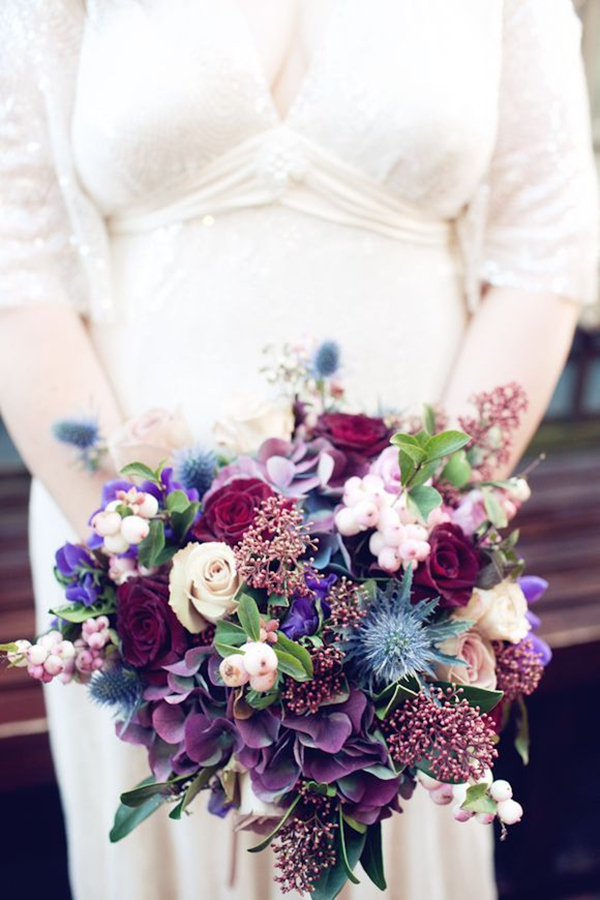 26 Most Gorgeous Jewel Toned Wedding Bouquets