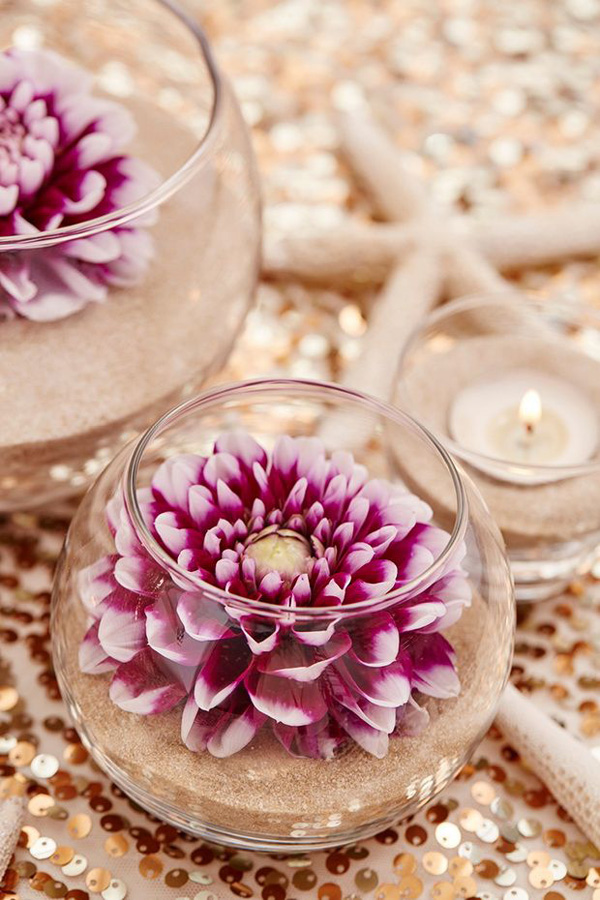 easy diy beach style wedding centerpiece ideas
