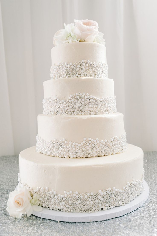 25 Fabulous Wedding Cake Ideas With Pearls ...