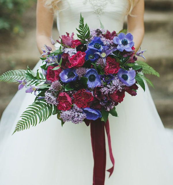 26 Most Gorgeous Jewel-toned Wedding Bouquets
