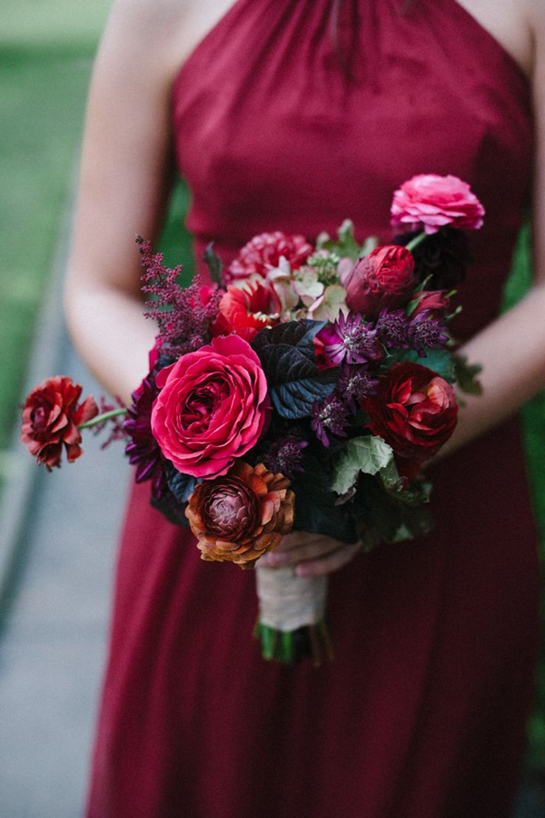 Fall Wedding Colored Jewel Tone Bouquets