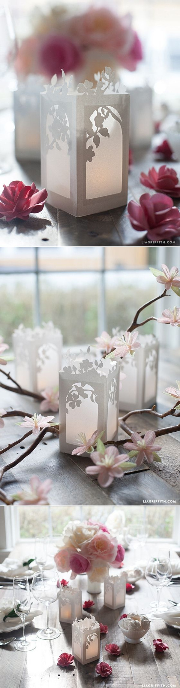 gorgeous DIY wedding centerpieces of paper lanterns