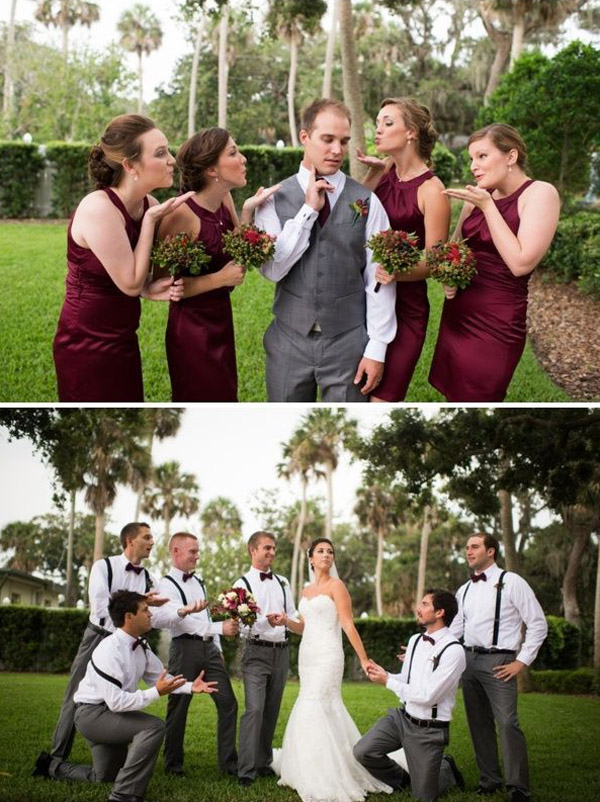 great fun wedding photogragphy poses for your bridal party