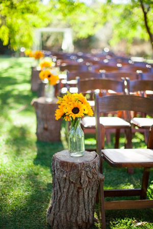 great sunflower decoration ideas for outdoor wedding