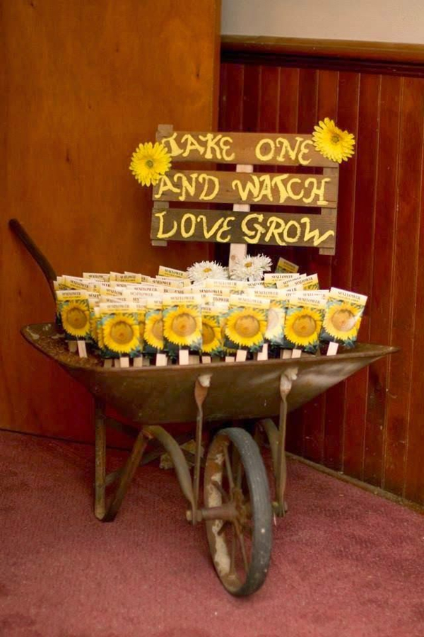 47 sunflower wedding ideas for 2016 elegantweddinginvites blog great sunflower wedding favors ideas junglespirit Images