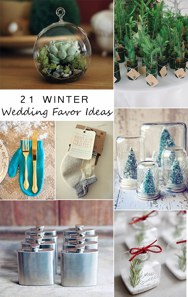 Great Wedding Favors For Winter Ideas
