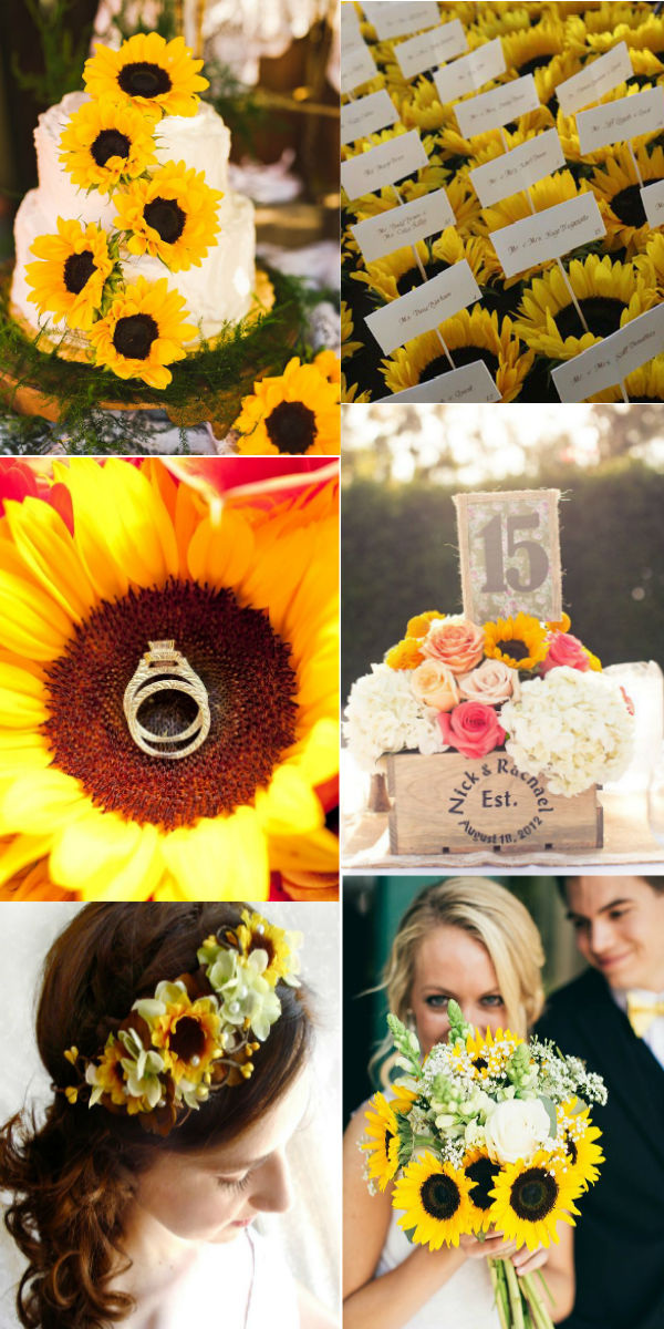 9 Sunflower Wedding Ideas For 9 - Elegantweddinginvites.com Blog