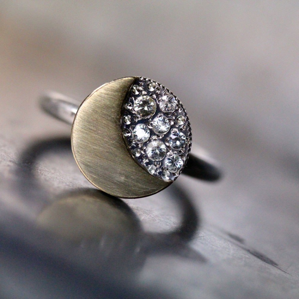 moon and star engagement rings