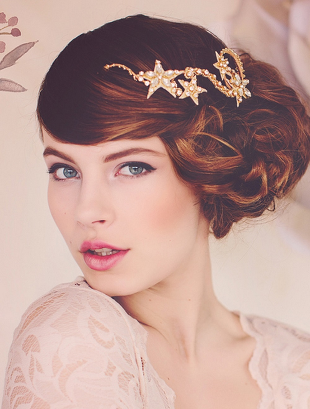 new gold cassiopeia star headpieces