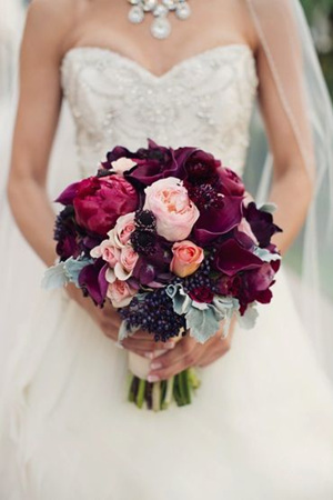 29 eye catching wedding bouquets ideas for 2016 spring purple cally lilies wedding bouquet ideas junglespirit Images