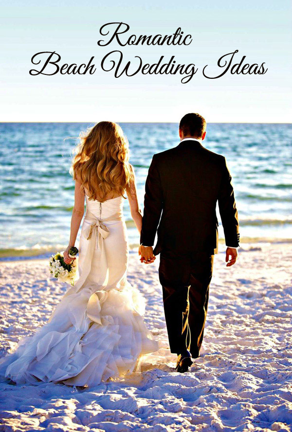 romantic beach themed wedding ideas