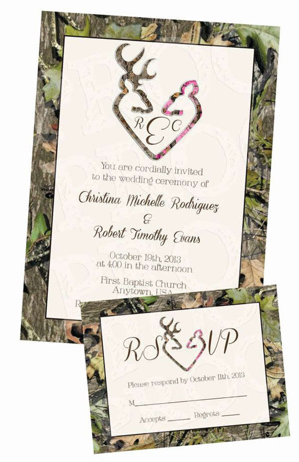 rustic camo wedding photos